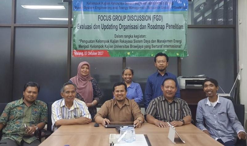 Tim PSeeM-RG dalam FGD Road Map Penelitian 2017
