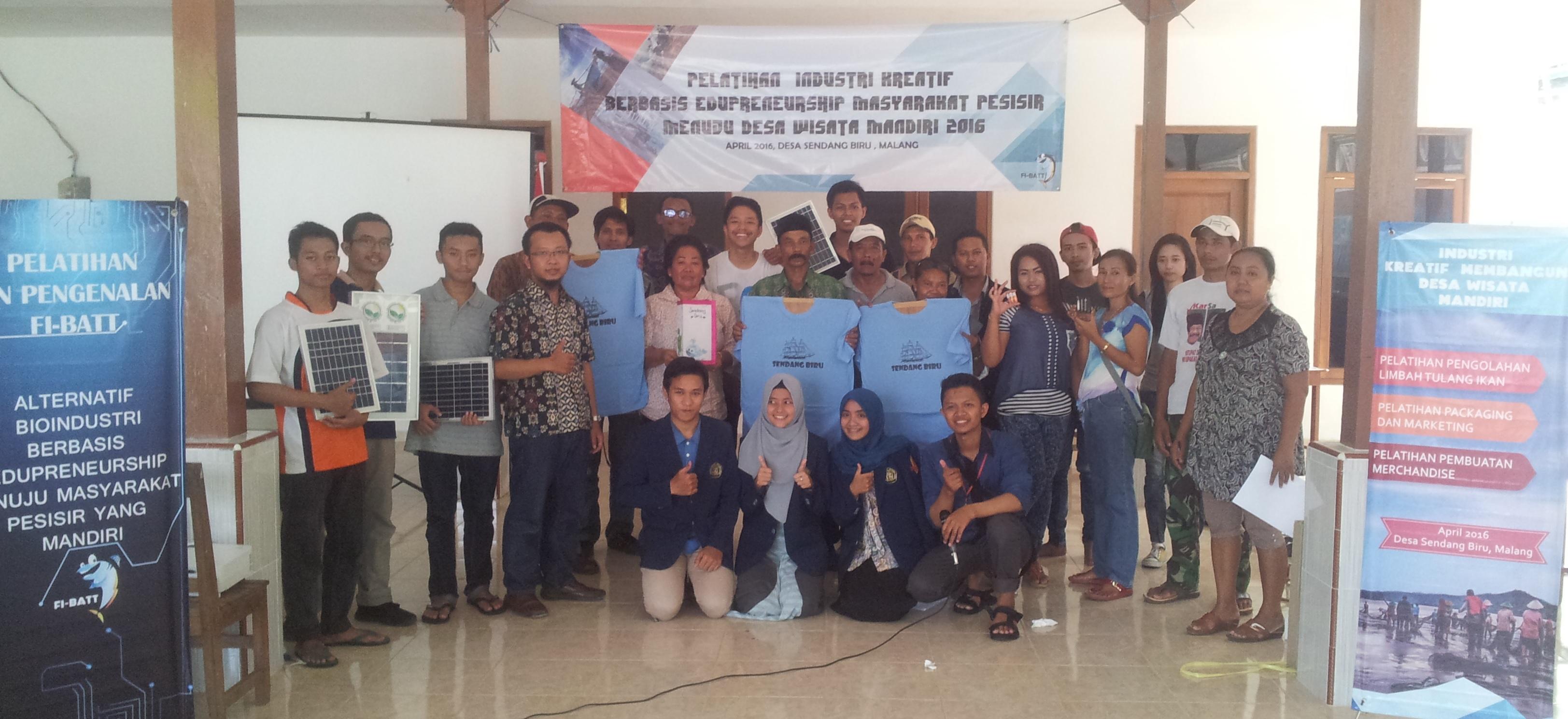 Pelatihan Industri Kreatif Nelayan Sendang Biru dengan Energi Alternatif